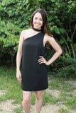 Black One Shoulder Mock Dress