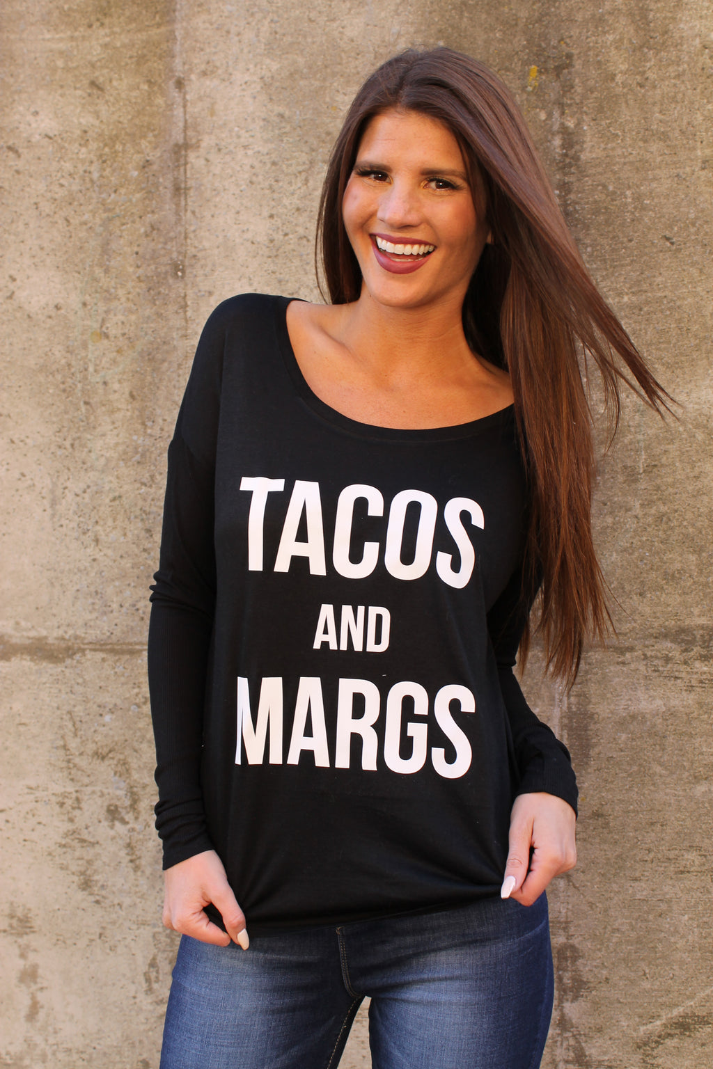 Black Taco's & Margs Top