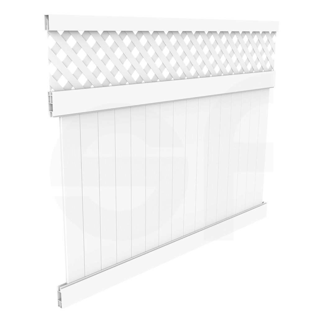 Cascade 8 Ft W X 6 Ft H White Vinyl Privacy Fence Panel