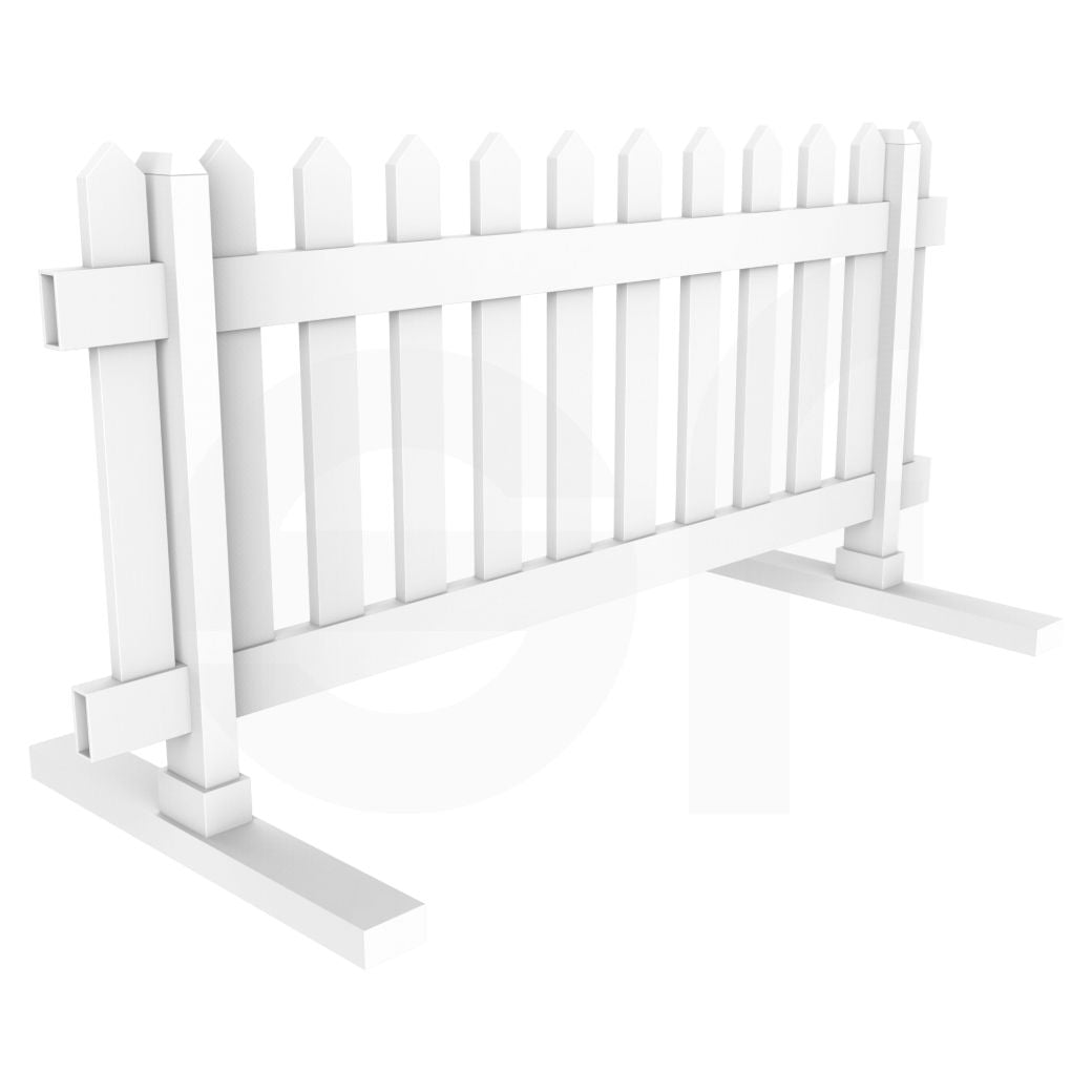 Simple Picket Fence: Portable 6 Ft. W X 2.75 Ft. H Temporary Picket Fence