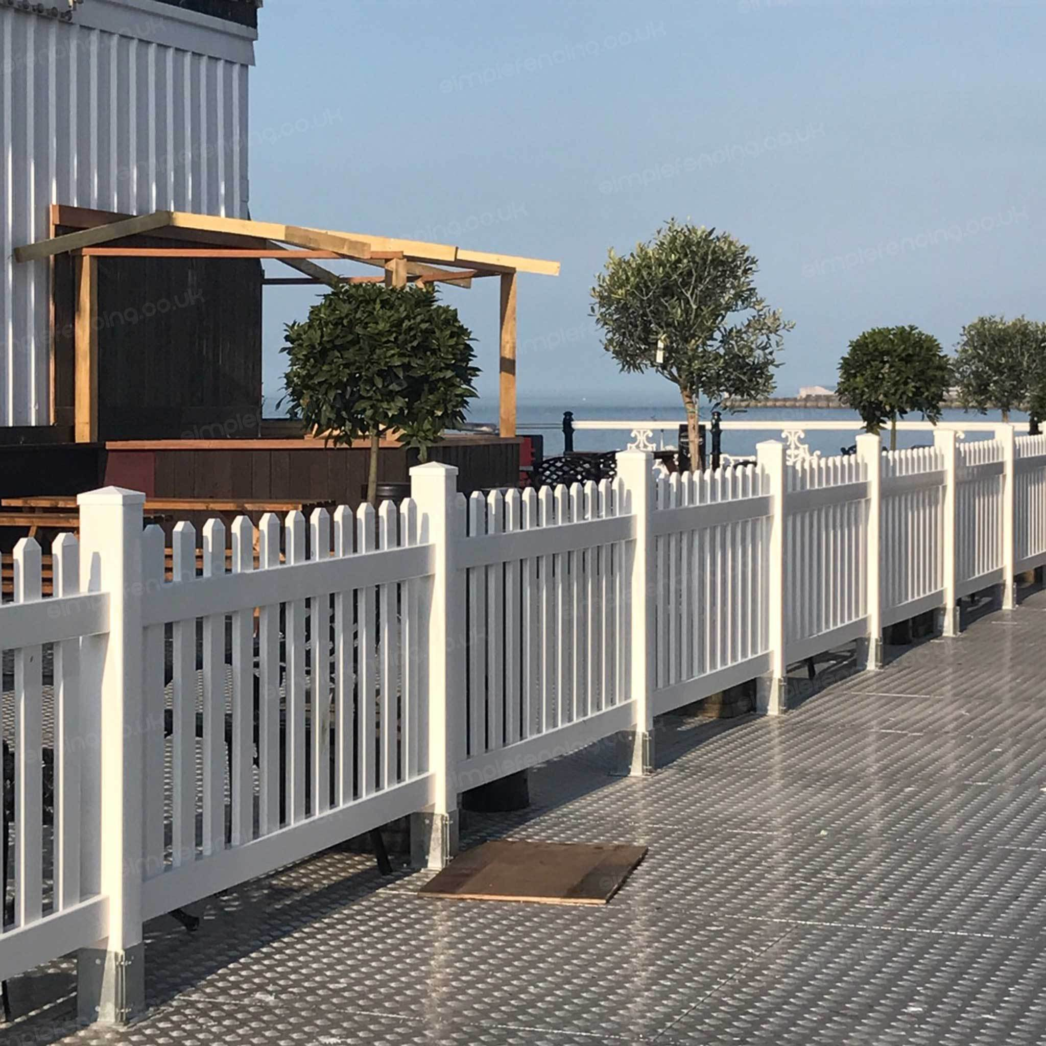 Simple Picket Fence: Straight 6 Ft. W X 4 Ft. H Picket Fence Panel