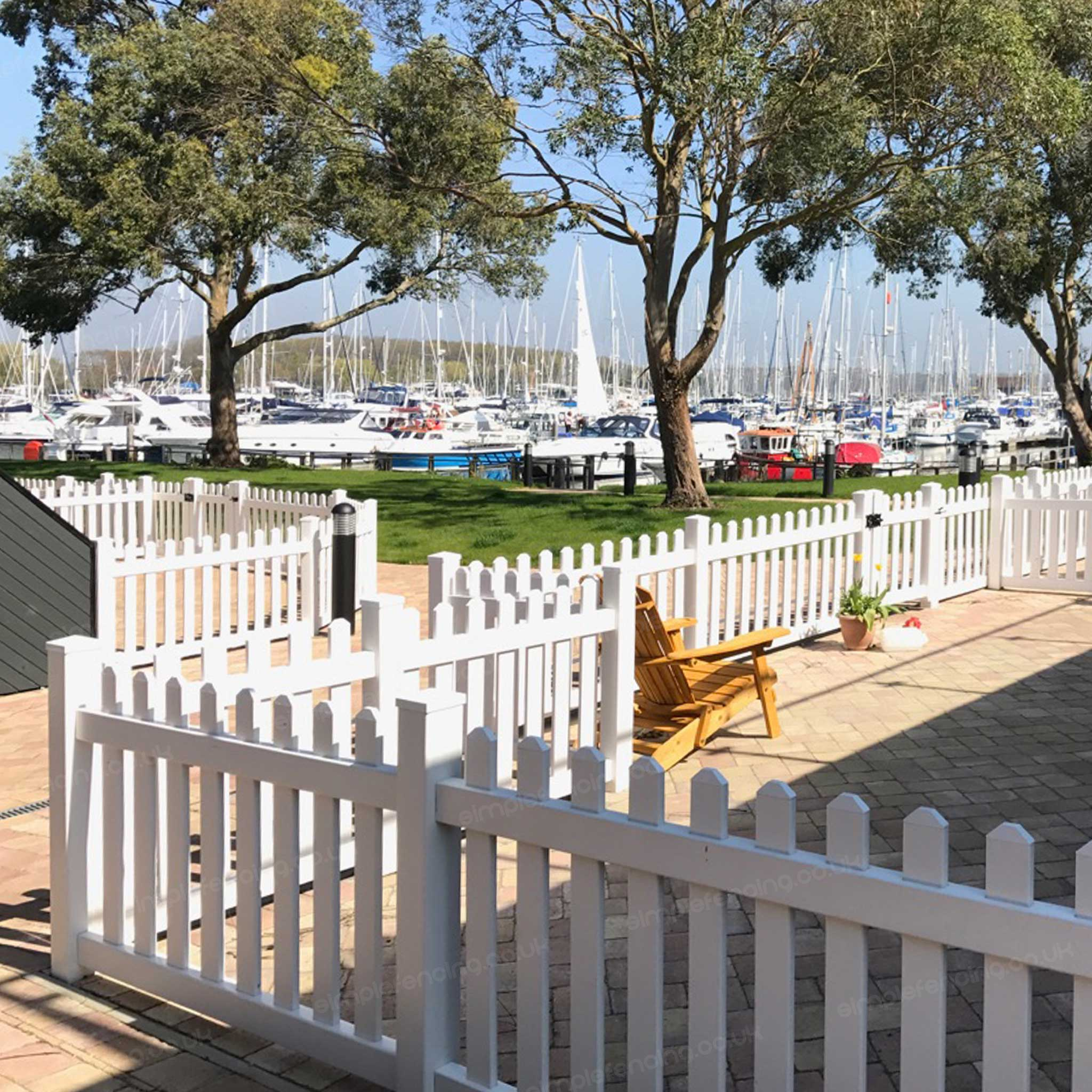 Simple Picket Fence: Straight 6 Ft. W X 2.5 Ft. H Picket Fence Panel