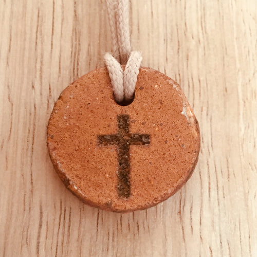 Round Shaped clay Cross