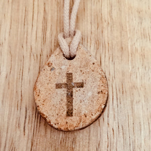 Drop Shaped Clay  Cross