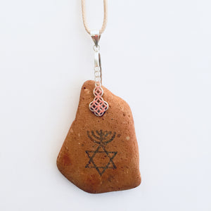 SILVER BELL MESSIANIC CLAY NECKLACE