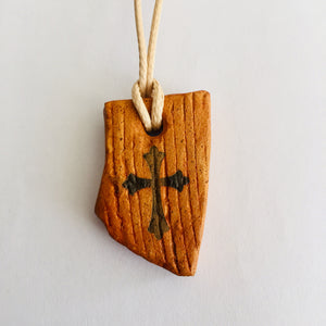 Natural Clay with Bethlehem Cross