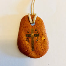 Load image into Gallery viewer, initial I j k cross pendant