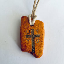 Load image into Gallery viewer, initial U V W cross pendants