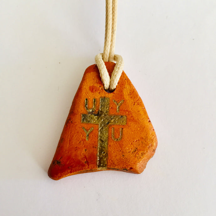 initial U V W cross pendants