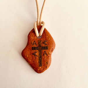 Initial A to E cross pendants