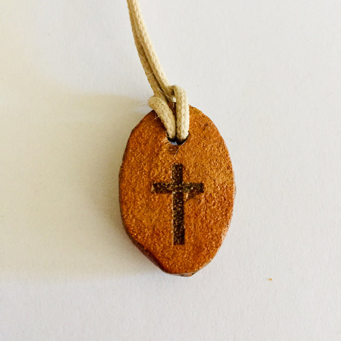 Oval Shape Clay Cross