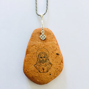 Christ in Clay Necklace