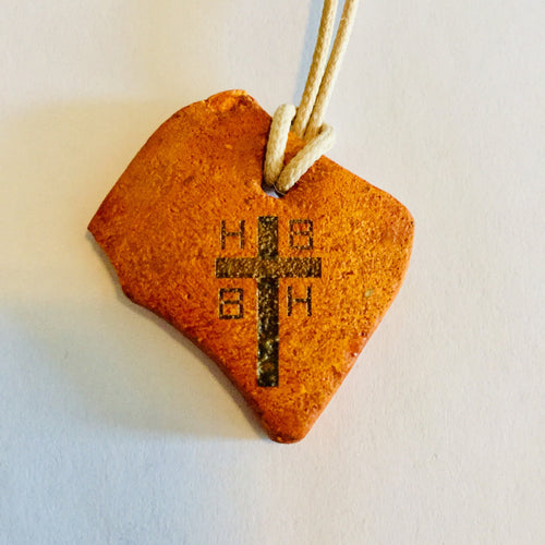 Initial F to H cross pendants