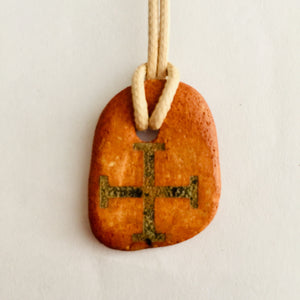 Natural Clay with Ein-Karem in Jerusalem Cross