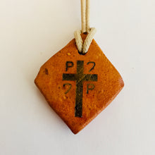 Load image into Gallery viewer, initial O P Q cross pendant