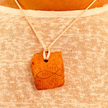 Load image into Gallery viewer, SILVER BELL ICHTHUS FISH CLAY NECKLACE