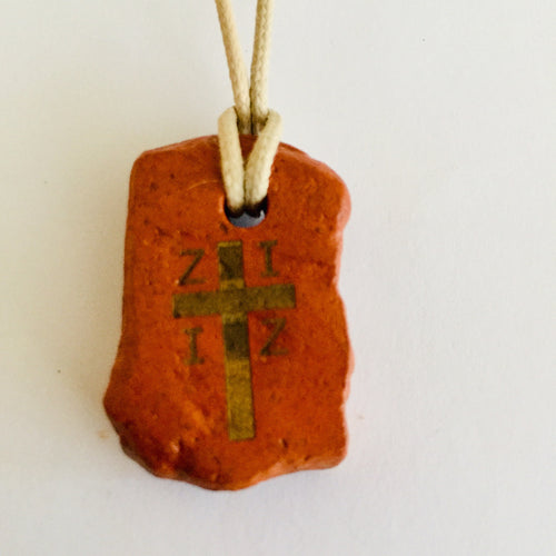 initial X Y Z cross pendants