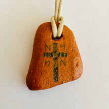 Load image into Gallery viewer, initial L M N cross pendant