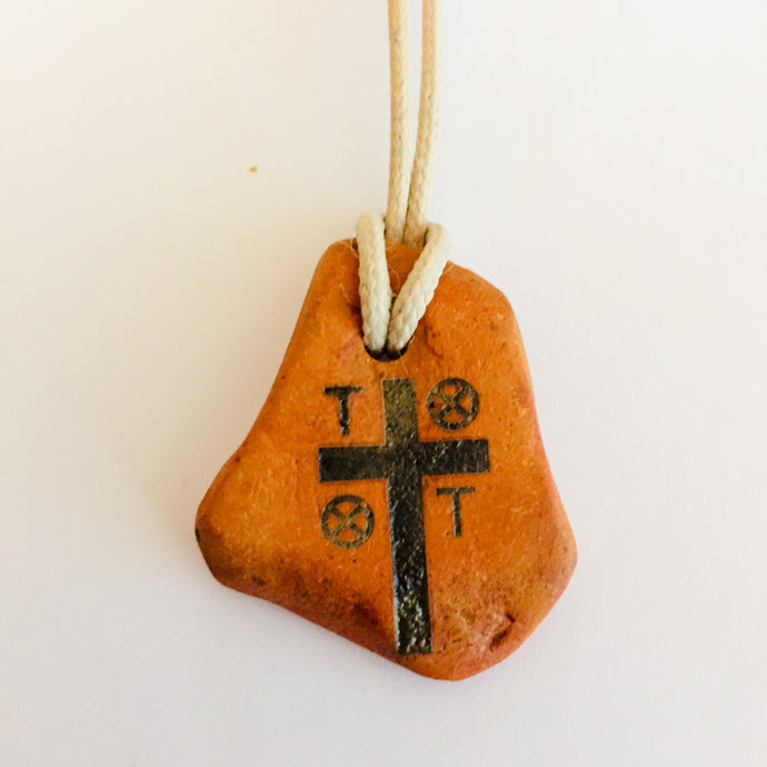 initial R S T cross pendants