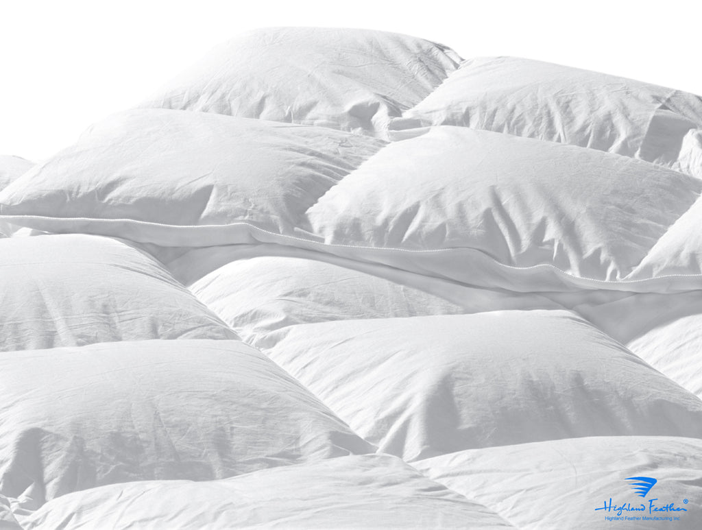 Athens - Midweight Hutterite White Goose Down Comforter 500TC/725 Loft