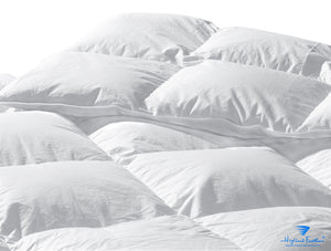 Luxembourg Lightweight Combo - 1 Lightweight European White Down Comforter 289TC/625 Loft + 2 Medium European White Duck Down Pillows 233TC/625 Loft
