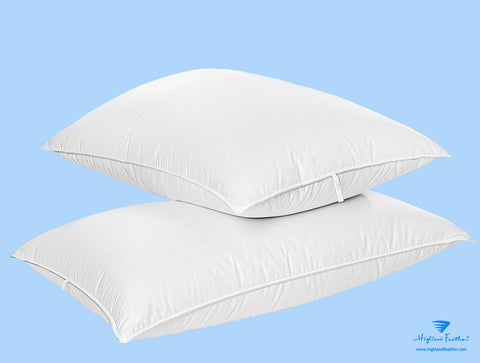 Helsinki Pillow Combo - 2 European White Down Pillows 500TC/800 Loft