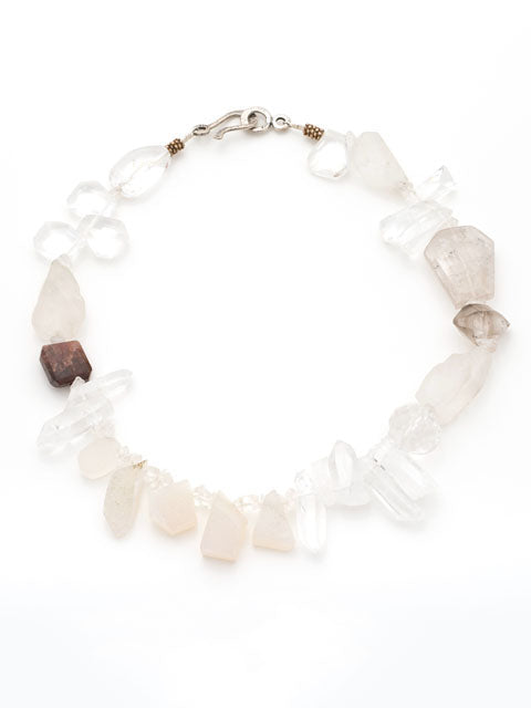 Shades of white gemstone necklace