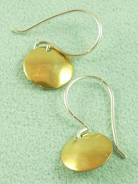 E072 Vermeil small disk earrings