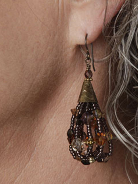 Turkish style cone earrings