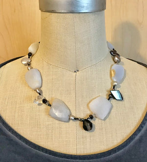Shades of blue and grey necklace