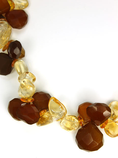 Honey briolette necklace