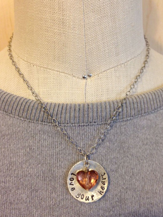 Love Your Heart silver necklace