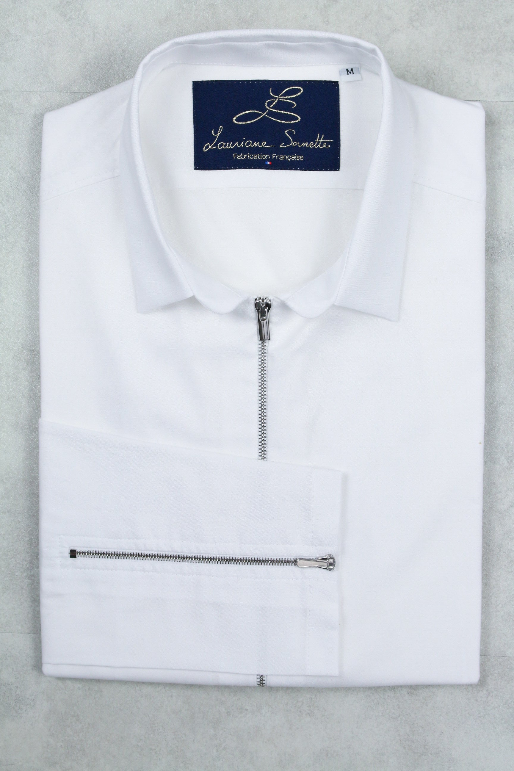 Chemise stretch blanche