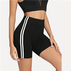Striped Workout Shorts