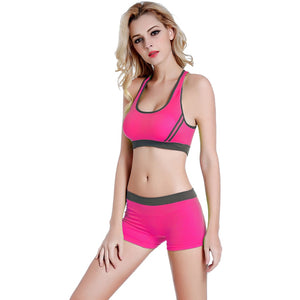 2Pcs Yoga bra and brief set