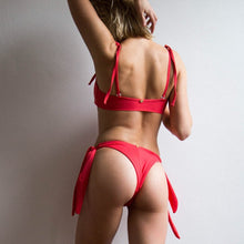 Load image into Gallery viewer, Chloe Tie Side Highcut Bottom