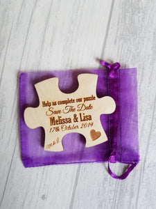 Save the date Magnets Puzzle piece