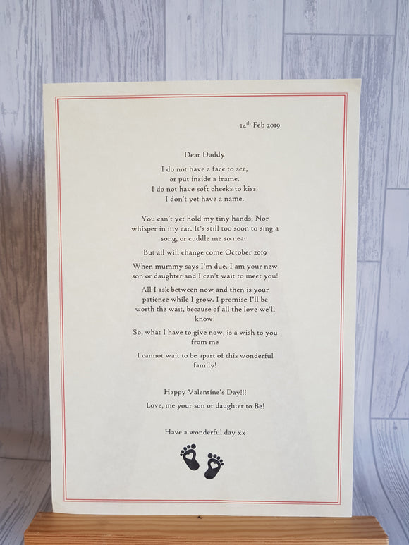 Wax Sealed Poem from an Unborn Child