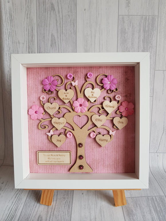 Heart Family Tree Frame