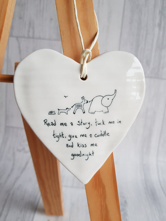 Heart Ceramic Plaque - Read me a story