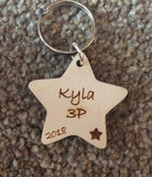 Student class keyrings stars
