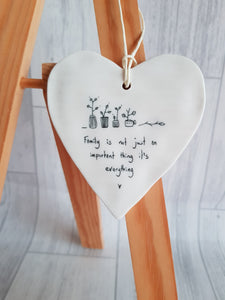 Family is not Just - Ceramic Heart