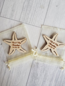 Starfish favours/ placement names