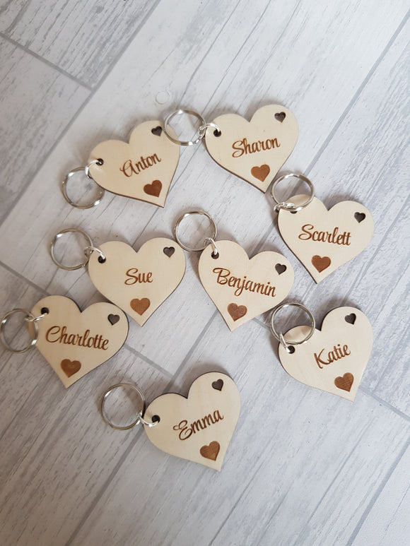 5 for £5 Heart keyrings