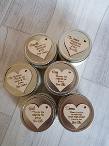 2 FOR £5 Personalised soy candles