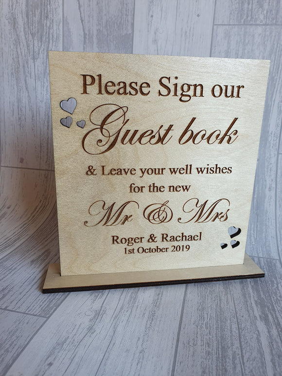 Please sign our guest book Freestanding sign