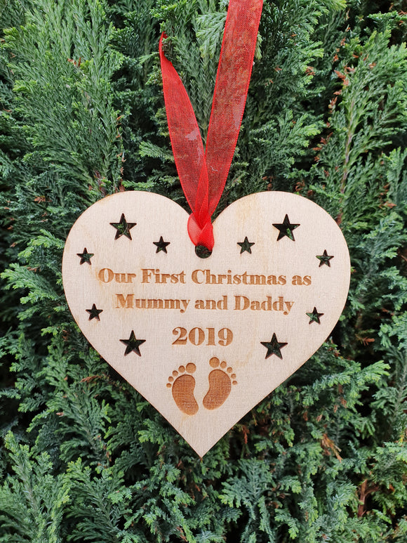 First Christmas Parent Bauble