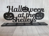 Halloween at the - plaque