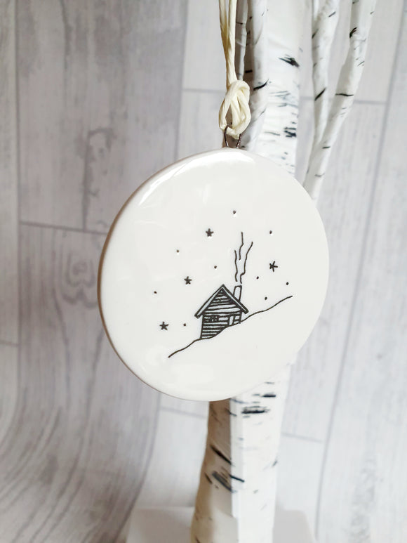 Double Sided Decorations- Snow Lodge