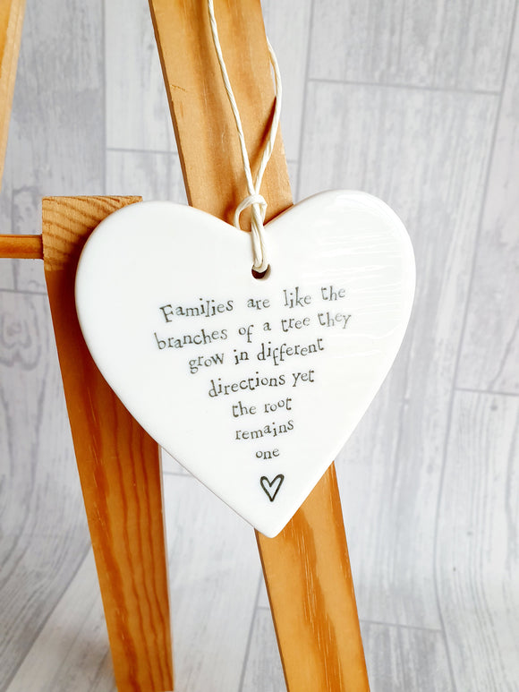 Families Are Like Branches - Ceramic Heart